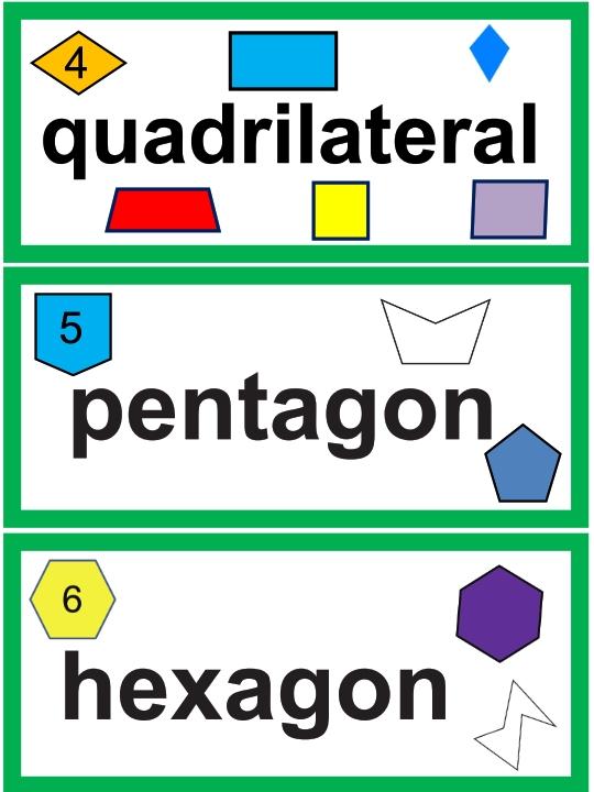 2nd Grade Math Word Wall Cards