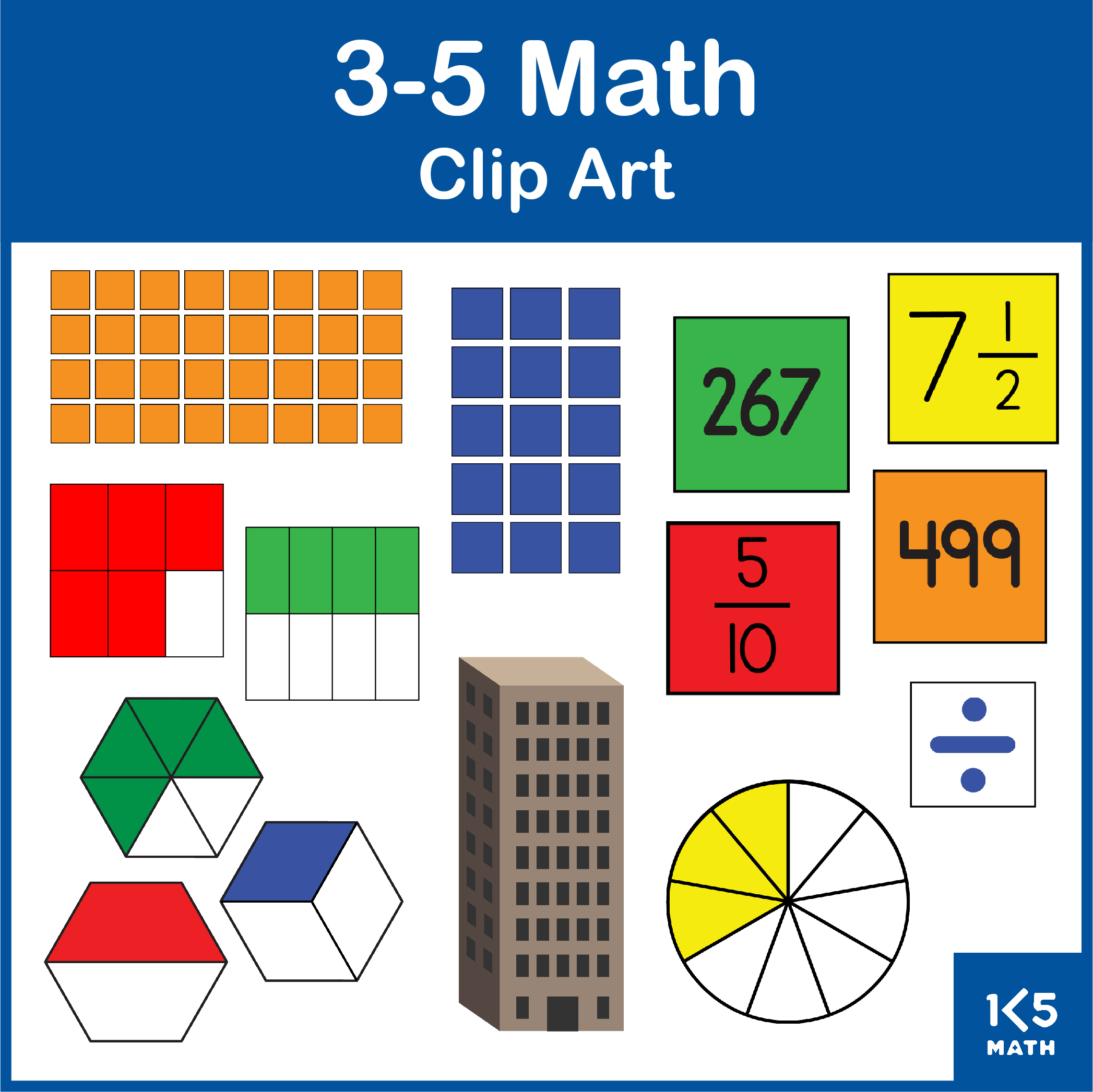 Grades 3-5 Math Clip Art Bundle