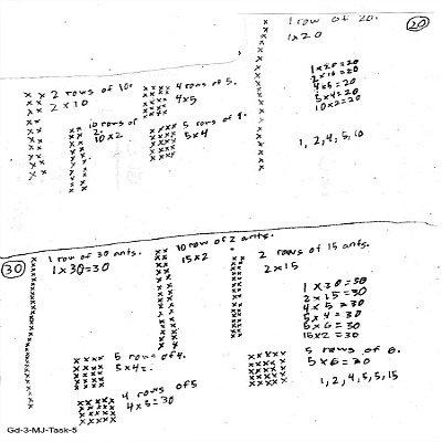 3rd Grade Math Journal Task 5