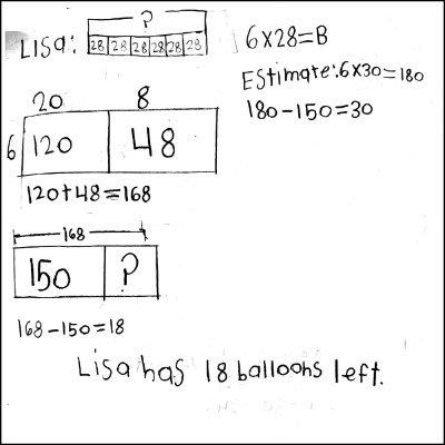 4th Grade Math Journal Task 6
