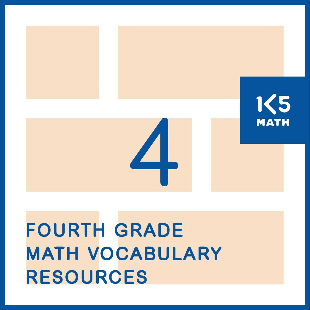 4th Grade Math Vocabulary Resources