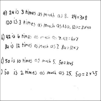 4th Grade Math Journal Task 1