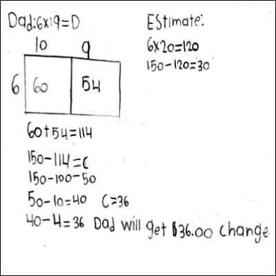 4th Grade Math Journal Task 10