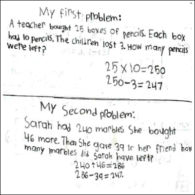 4th Grade Math Journal Task 15
