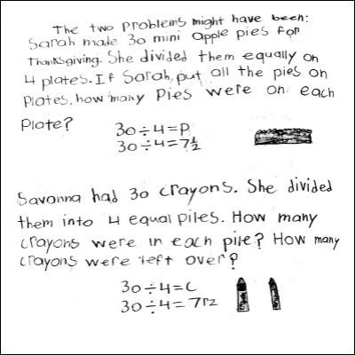 4th Grade Math Journal Task 16