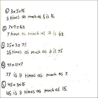 4th Grade Math Journal Task 2