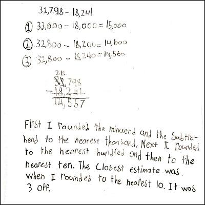4th Grade Math Journal Task 20