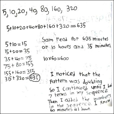 4th Grade Math Journal Task 33