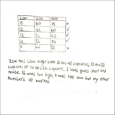 4th Grade Math Journal Task 5