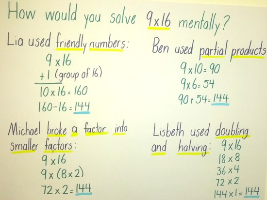 Multiplication Number Talk Chart