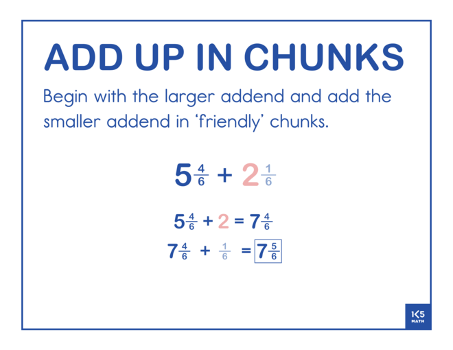 Add Up in Chunks Fractions