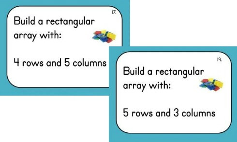Array Cards: Use addition to find the total number of objects arranged in rectangular arrays