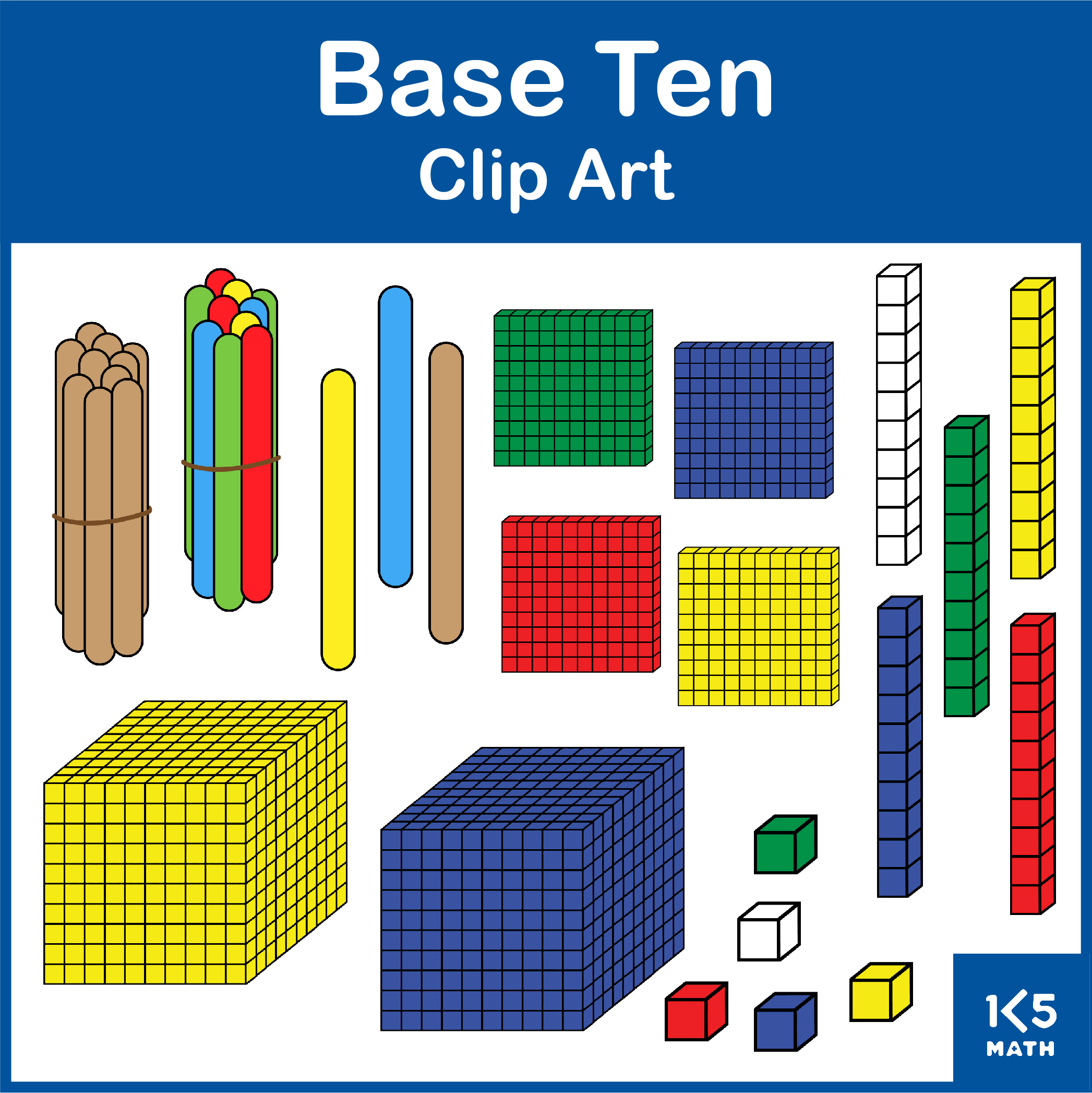 Base Ten Clip Art