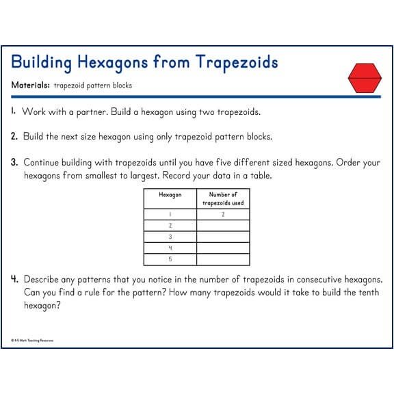 Building Hexagons from Trapezoids