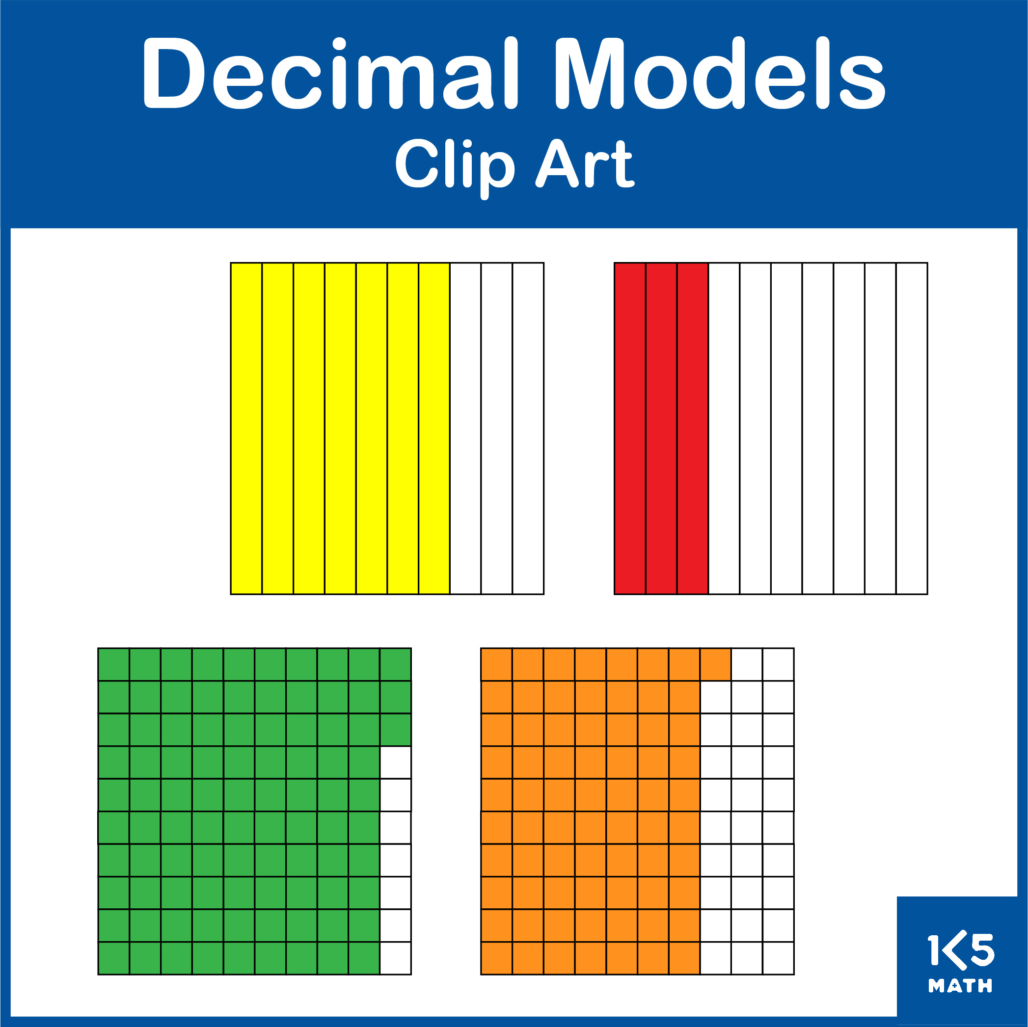 Decimal Model Clip Art set
