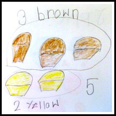 Student Work: Kindergarten Math Journal task
