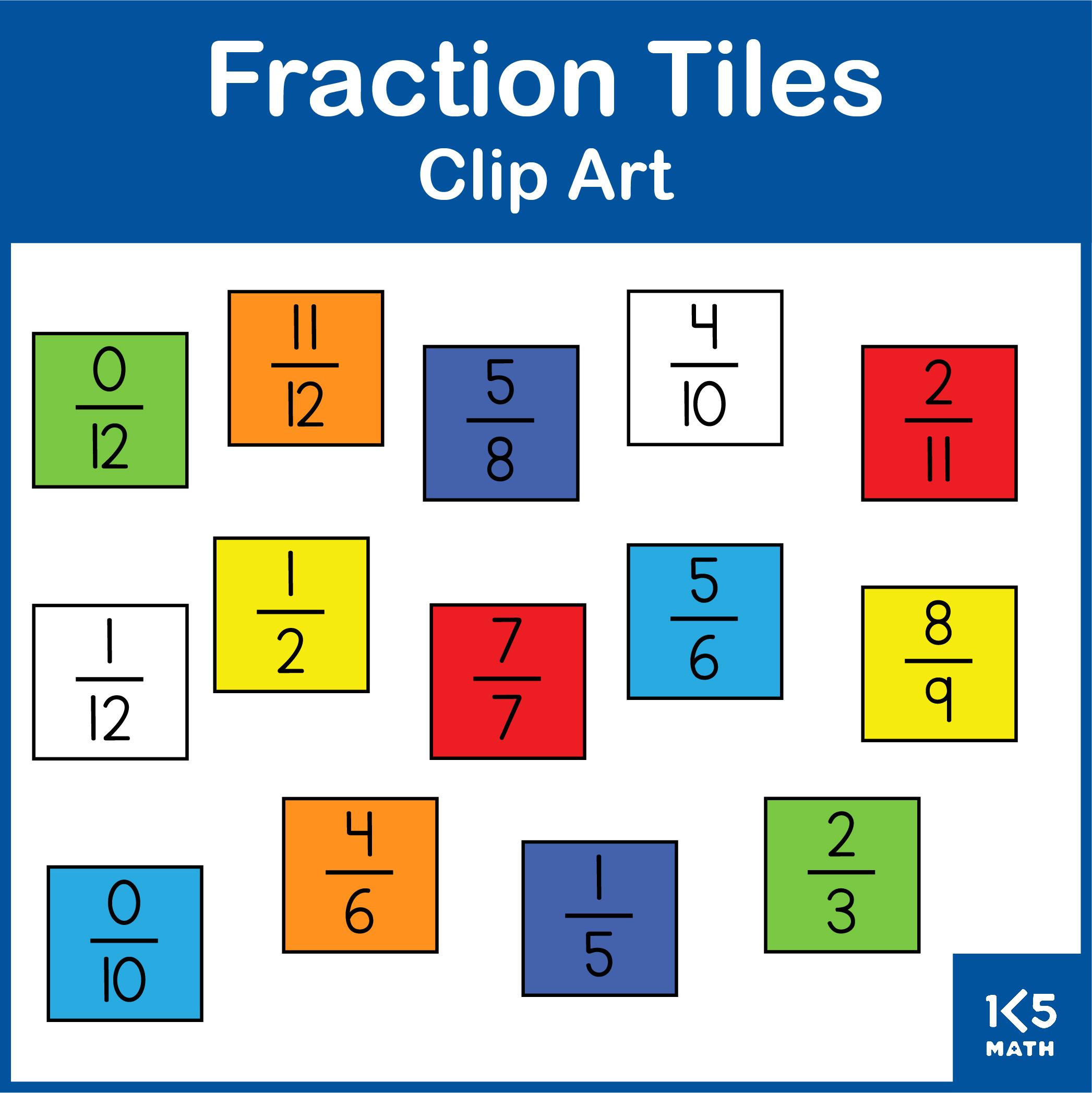 Fraction Tiles Clip Art