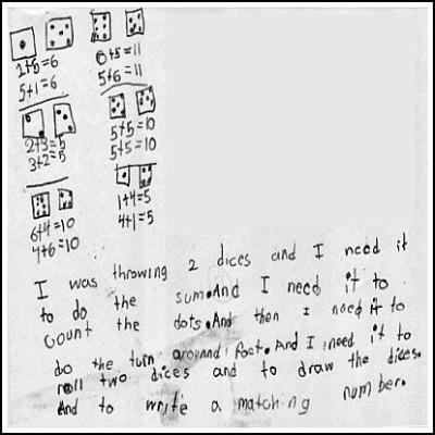 1st Grade Math Journal Task 17