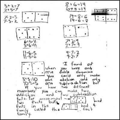 1st Grade Math Journal Task 18