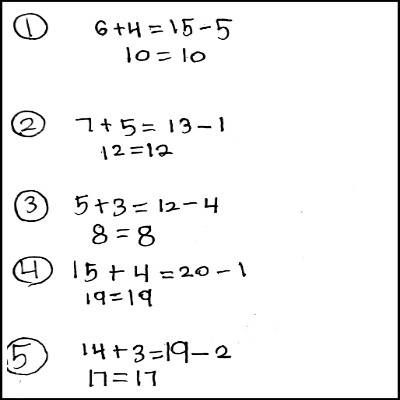 1st Grade Math Journal Task 32