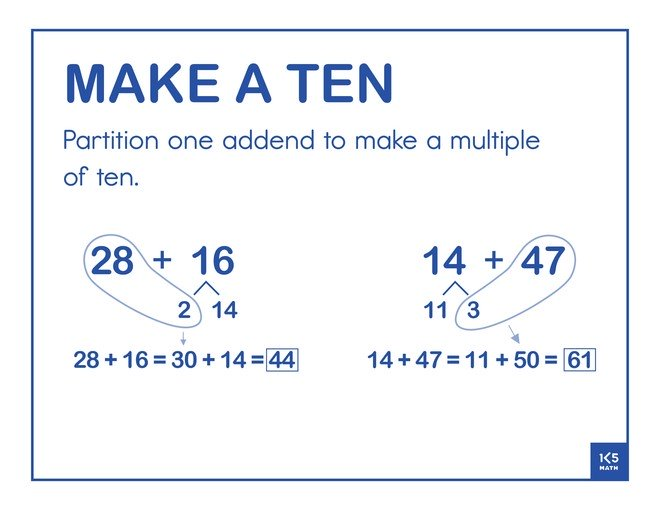 Make a Ten 2-Digit Addends