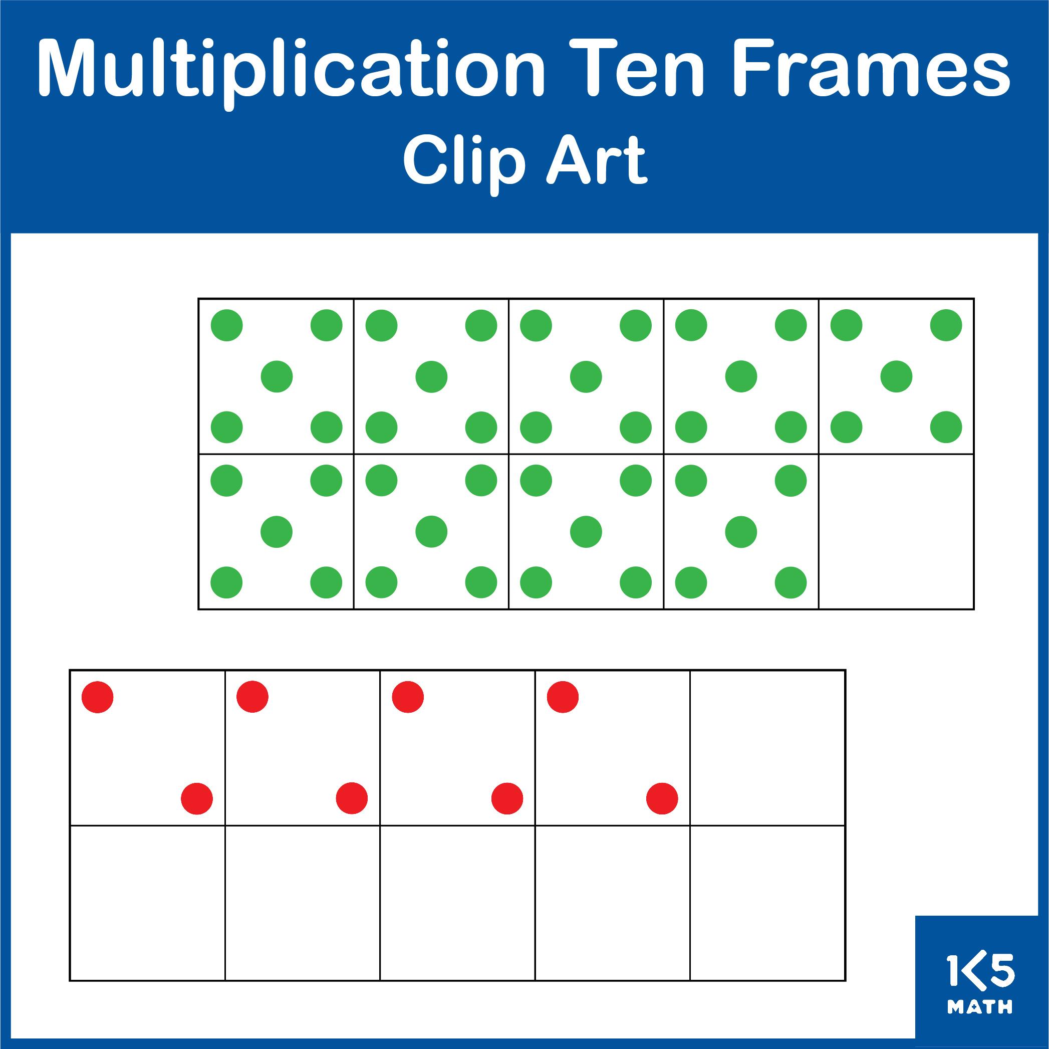 Multiplication Ten Frames Clip Art