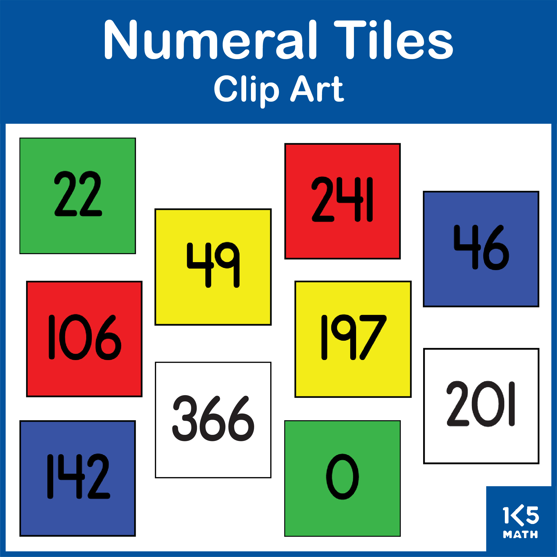 Numeral Tiles Clip Art