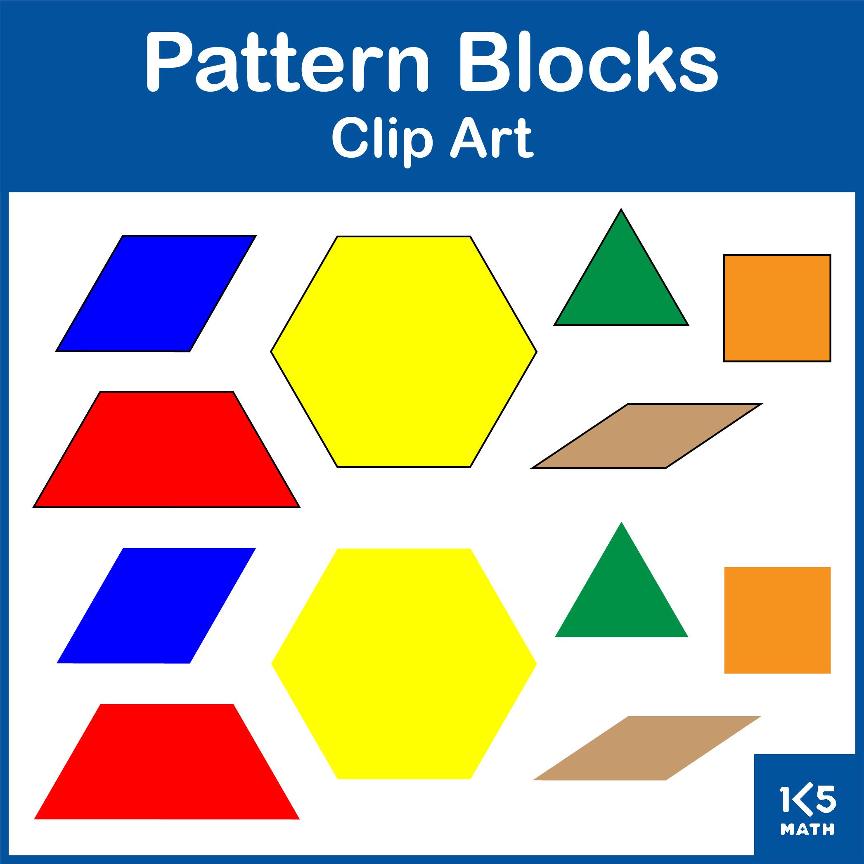 Pattern Blocks Clip Art Set