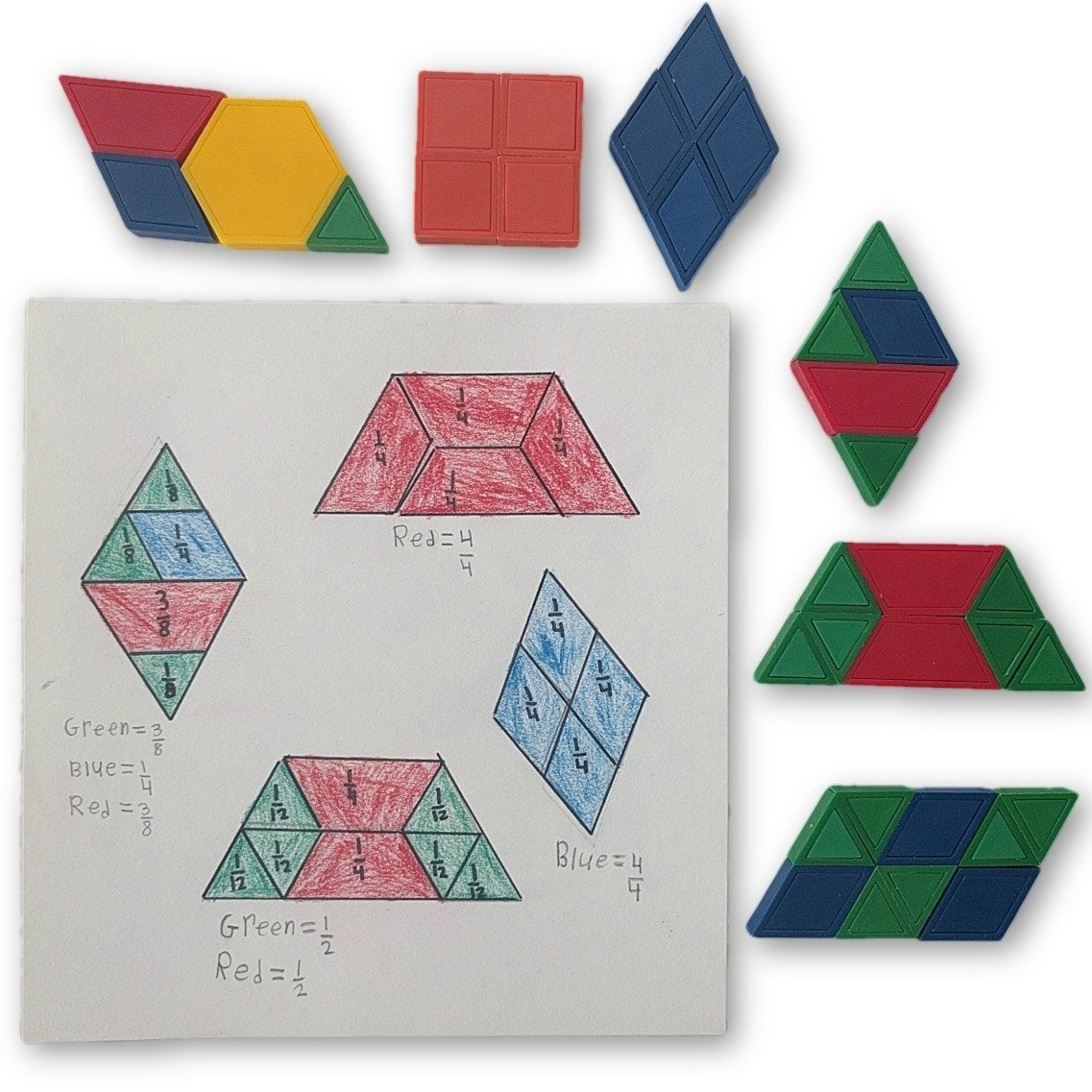Math Center: Quadrilateral Fractions