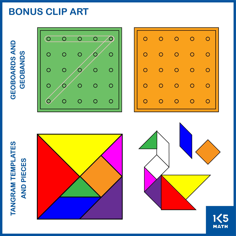 Pattern Blocks Clip Art Set Bonus Images