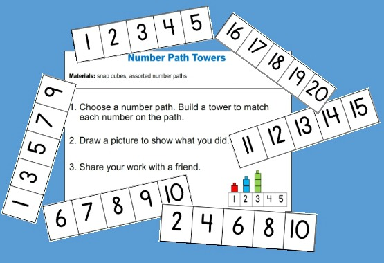 Number Path Towers