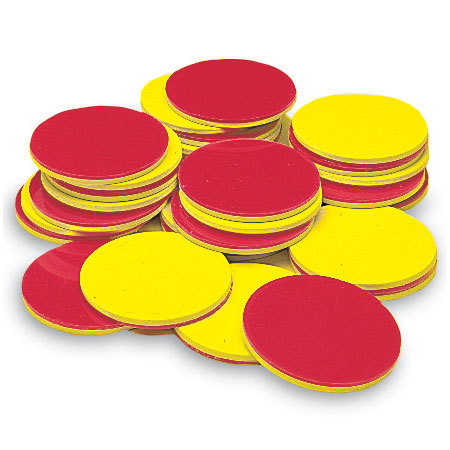 Two-color counters are a useful manipulative for developing understanding of the set model for fractions.